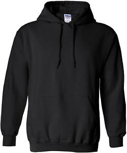 Gildan Men's Fleece Hooded Sweatshirt, Style G18500  Black.  Medium