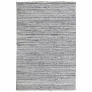 Handmade Black Gray Indoor/Outdoor Area Rug, Solid Pattern, Thick Pile