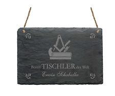 Schiefertafel  « BESTER TISCHLER » Schild mit MOTIV Schreiner Tischlerei Zunft