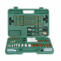 163 PCS Universal Gun Cleaning Kit .17/22/30/35/375/38/40/44/45 cal 12/20/410 GA
