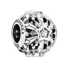 New Authentic PANDORA Silver Disney Frozen Snowflakes Charm 791563CZ