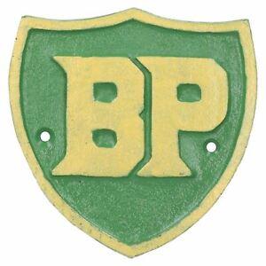 BP Fuel Shield Cast Iron Sign Plaque Wall Garage Petrol Workshop Shop Motor