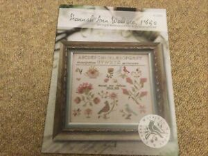 Hannah Ann Wallace 1850 Cross Stitch Design (new) By Brenda Gervais