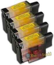 4 Cartucho de tinta Amarillo LC900 Set para Brother Impresora DCP110C DCP111C DCP115C