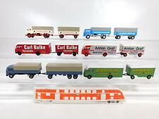 CA395-0, 5 #6x Brekina 1:87 / H0 Tren de Carretera MB: Balke + Graf + Schenker+
