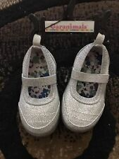 Sparkling Silver Baby Shoes Size 3