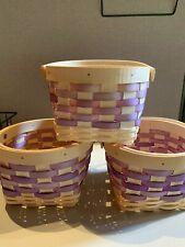 Small Wicker Basket, Storage, Flower Girl, Easter, Crafting, Purple