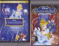 2 Dvd Disney CENERENTOLA 1 + 2  II QUANDO I SOGNI DIVENTANO REALTÀ nuovo 1950-02