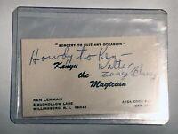 "MAGICIAN WALTER ""ZANEY"" BLANEY'S AUTOGRAPH / Vintage Magic Ephemera"