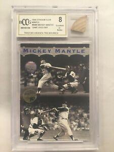 Mickey MANTLE Game Used BAT = BCCG 8 - HOF, Yankee Legend, Triple Crown, 7 x WS