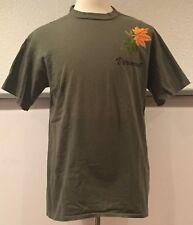 vtg Vintage 90s Vermont T Shirt Leaf Leaves Raised Textured Graphics Made USA L