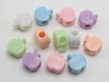 100 peces Cuentas de Acrílico//Plástico Mezclados 10mm para Niños Manualidades Fabricación de Joyas