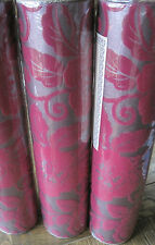 John Lewis Sophie Conran for Arthouse Belle Flock Wallpaper 980509 Fuchsia