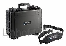 B&W Outdoor Case 5000 Black Dividers + Carry Strap 47x36.5x19cm Shock Proof