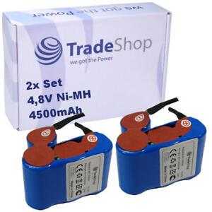 2x Trade-Shop Ni-MH Akku 4500mAh 4,8V für Vileda AS193E9A Akkubesen