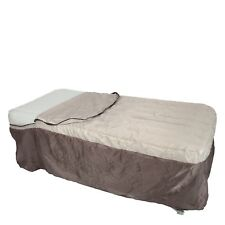 MacSport Inflatable Twin Size Airbed, Collapsible Frame and Bed Skirt