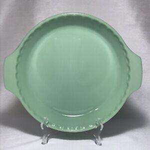 """VTG Anchor Hocking Fire King Glass JADEITE 10"""" Pie Plate 2000"""