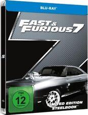 FAST & FURIOUS 7 (Vin Diesel, Paul Walker) Blu-ray Disc, Steelbook NEU+OVP