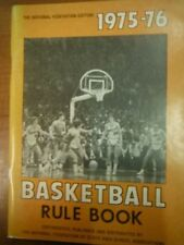 1975-76 National Federation Edition Basketball Rule Book State High School1229SM