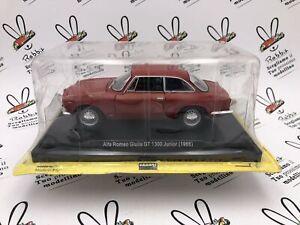 """Die Cast """" Alfa Romeo Giulia Gt 1300 Junior (1966) """" Quattroruote Scale 1/24"""