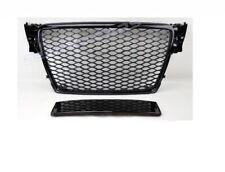 RS4 Look Front Grill Black DTM Mesh Honeycomb Bumper Audi A4 B8 8K S4 Sline