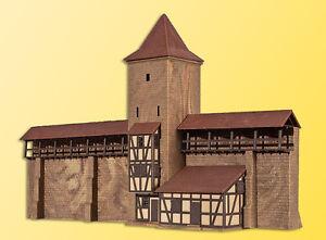 kibri 37108 Spur N Wehrturm mit Mauer in Rothenburg #NEU in OVP#