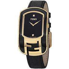 Fendi Women's Chameleon Black Dial Leather Strap Swiss Quartz Watch F311431011D1