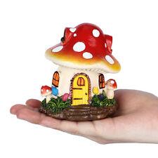 Miniature Fairy Mushroom House  Dollhouse Decor Garden Resin Ornament Plant Pots