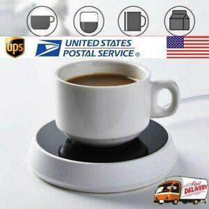 Cup Mug Warmer Coffee Tea Milk Drink Heater Pad Auto Shut Off For Home Office US