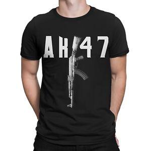 AK47 Gewehr T-Shirt Russia Gangster Mafia Russen Fun Gamer Waffe Gun Waffen AK74