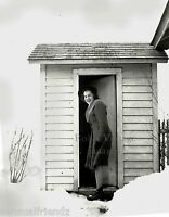 Outhouse One Holer, Vintage 1940s Rural America Uncle Hilbert's Bathroom photo