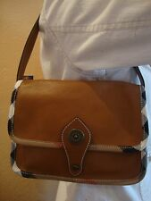 BURBERRY LIGHT BROWN LEATHER WOMEN'S SHOULDER AND HAND BAG ITALY $685