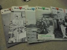 Vintage Lot of 5 1959  Delta Rockwell Magazines Deltagram