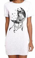 Wolf Dreamcatcher Native American Tattoo Hipster Women's T-Shirt Dress