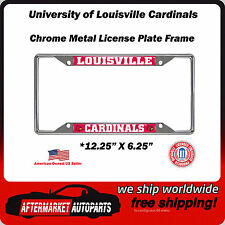University of Louisville Cardinals Chrome Auto Car License Plate Frame Border