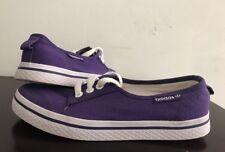 Adidas Women Canvas Sneaker Size 6US/ 37.3FR. Purple/ White