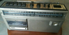 PHILIPS D-7234 RADIO CASSETTE PORTABLE PLAYER VINTAGE BOOMBOX STEREO ANNI 70s 80