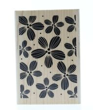 Hampton Art Bold Tropical Flower Collage Wooden Rubber Stamp
