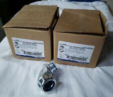 "Lot of 20 5353 T&B 3/4"" Liquidtight Flex 90 Deg Insulated Conduit Connectors NIB"