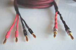 """Dynavox """"PERFECT SOUND"""" bi-wiring / Premium Speakerkabel / Bananas / Gewebe"""