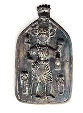Indien 2. Hälfte 17. Jahrhundert Bronze-Gußtafel  Gott Shiva, sammelwürdig