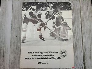 WHA New England Whalers Chicago Cougars Eastern Division Playoffs Program 1974