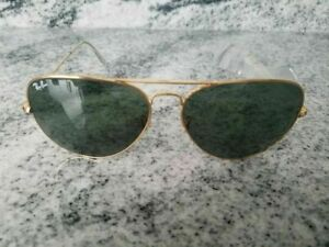 Ray-Ban Aviator authentic Sunglasses RB 3025 gold Frame Classic green Lens 62mm