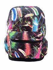 FEATHER PLANT Backpack Rucksack School College Goth Skull Rock Punk Skate Bag