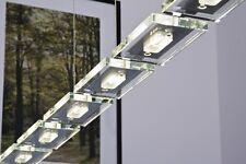 Lampe à suspension Wofi Lampe pendante Lustre Plafonnier à LED Métal/Verre 45604