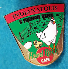 INDIANAPOLIS 12 DAYS OF XMAS *3 FRENCH HENS* Hard Rock Cafe PUZZLE PIN LE