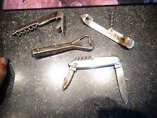 Petit lot de Couteau tire bouchon décapsuleur