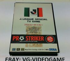 J.LEAGUE OFFICIAL TV GAME PRO STRIKER SEGA MEGADRIVE JAP NTSC! NUOVO