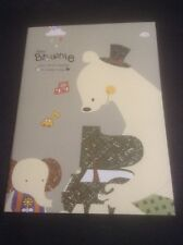 *Mini Green Booklet Of Lined Note Paper With A Bear*
