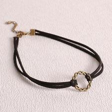 90's Black Velvet Charm Choker Necklace Gothic Punk Handmade Retro Jewelry CN
